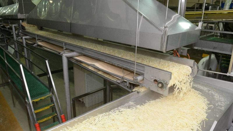 Process Of Frozen French Fries Production Line